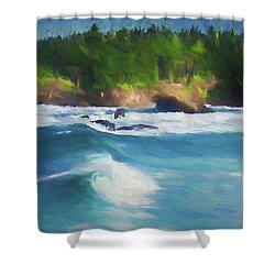 Boiler Bay Blues Shower Curtain