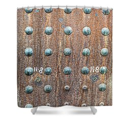 Boiler Rivets Shower Curtain