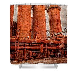 boilers at Sloss Shower Curtain by Phillip Burrow