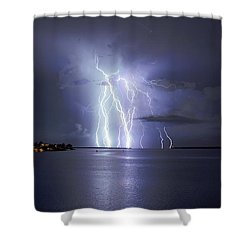 Bokeelia Nights Shower Curtain