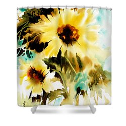 Shower Curtain featuring the painting Bold And Beautiful by Rae Andrews