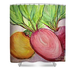 Bold Beets Shower Curtain