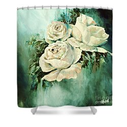 Bold Blooms Shower Curtain