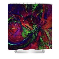 Shower Curtain featuring the digital art Bold Red by Deborah Benoit