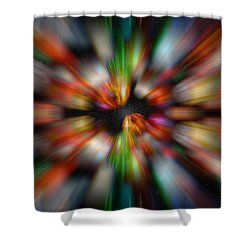 Bolders In Space Shower Curtain by Cherie Duran
