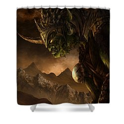 Bolg The Goblin King Shower Curtain by Curtiss Shaffer