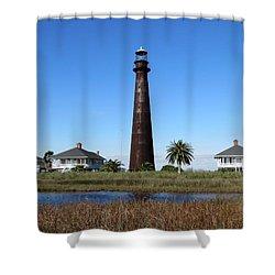 Bolivar Point Lighthouse Shower Curtain