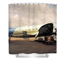 Shower Curtain featuring the digital art Bolivian Air by Michael Cleere