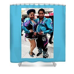 Bolivian Couple Dancers Shower Curtain