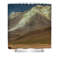 Bolivian Highland Shower Curtain by Gabor Pozsgai
