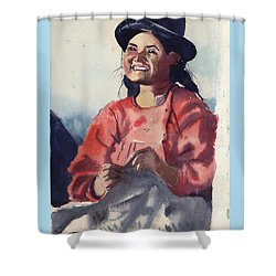 Bolivian Seamstress Shower Curtain