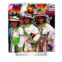 Bolivian University Student Dancers 1 Shower Curtain