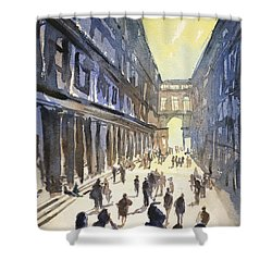 Shower Curtain featuring the painting Bologna Sunset- Italy by Ryan Fox