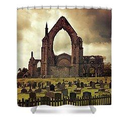 Bolton Abbey At Sunset Shower Curtain by Jaroslaw Blaminsky
