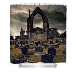 Bolton Abbey In The Stormy Weather Shower Curtain by Jaroslaw Blaminsky