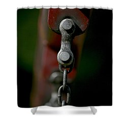 Shower Curtain featuring the photograph Bolts by Cathy Harper