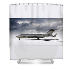 Bombardier Global 5000 Shower Curtain