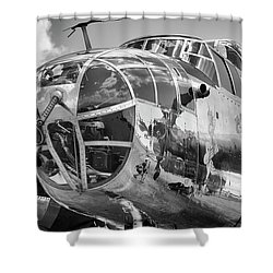 Bomber's Eye View Shower Curtain