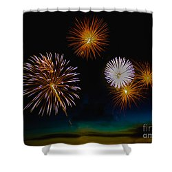 Bombs Bursting In The Air Shower Curtain by Robert Bales