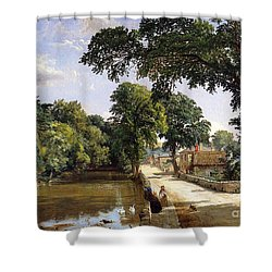 Bonchurch Isle Of Wight Shower Curtain by Jasper Francis Cropsey