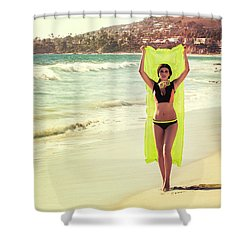 Bond Girl Laguna Beach Shower Curtain