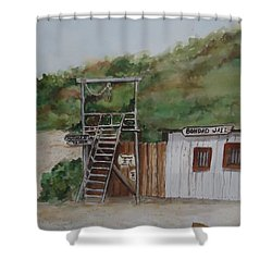 Bondad Colorado Jail Shower Curtain by Charme Curtin