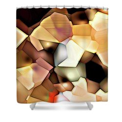 Bonded Shapes Shower Curtain by Ron Bissett