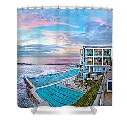 Bondi Beach Icebergs Shower Curtain