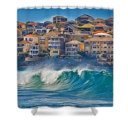 Bondi Waves Shower Curtain