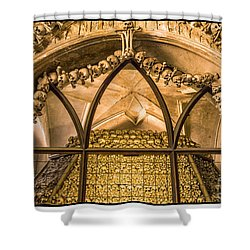 Shower Curtain featuring the photograph Bone Church In Czech Republic by Janis Knight