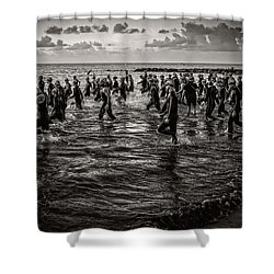 Bone Island Triathletes Shower Curtain