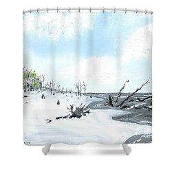 Bone Yard At Capers Island Shower Curtain