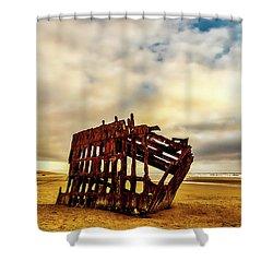 Bones Of A Shipwreck Shower Curtain
