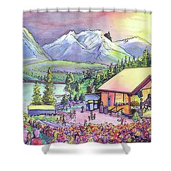 Bonfire Dub Shower Curtain by David Sockrider