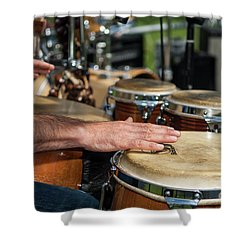 Bongo Hand Drums Shower Curtain