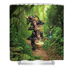 Bongo In The Jungle Shower Curtain