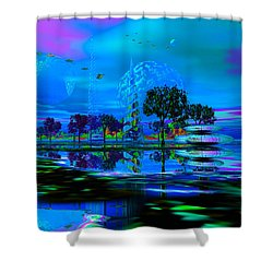 Bongus Bay Shower Curtain by Mark Blauhoefer