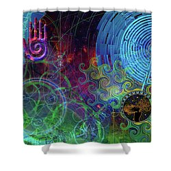 Bonita Shower Curtain by Kenneth Armand Johnson