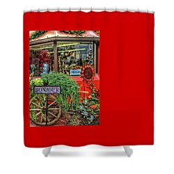 Shower Curtain featuring the photograph Bonjour Hello Good Day by Thom Zehrfeld