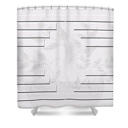 Bonjour Leaves Mass Shower Curtain