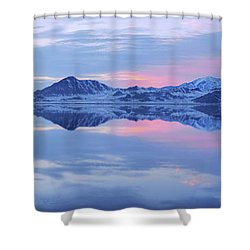 Shower Curtain featuring the photograph Bonneville Lake by Chad Dutson