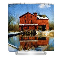 Bonneyville In Winter Shower Curtain
