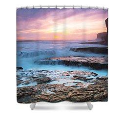 Bonny Doon Beach Shower Curtain by Catherine Lau