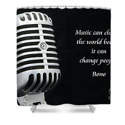 Bono On Music Shower Curtain by Paul Ward