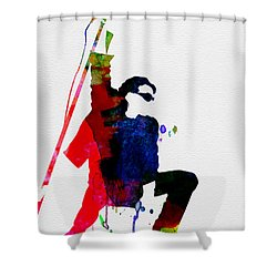Bono Watercolor Shower Curtain