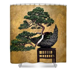 Bonsai 3 Shower Curtain by Jessica Jenney
