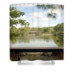 Bonsai Lake Shower Curtain