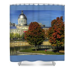Bonsecours Market Shower Curtain by Nicola Nobile