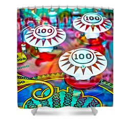 Bonus Points - Pinball Shower Curtain