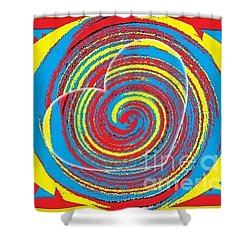Boo Hearted Shower Curtain by Catherine Lott